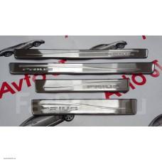 Накладка на пороги  с подсветкой Toyota Prius 30, 2009+ ( ZVW30, ZVW30L, ZVW35)